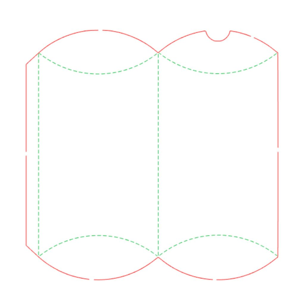 Pillow Box FREE Silhouette Cut File