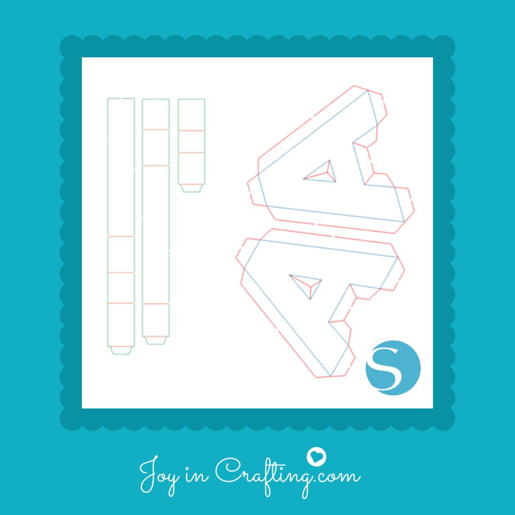 3D Letter A Cut File