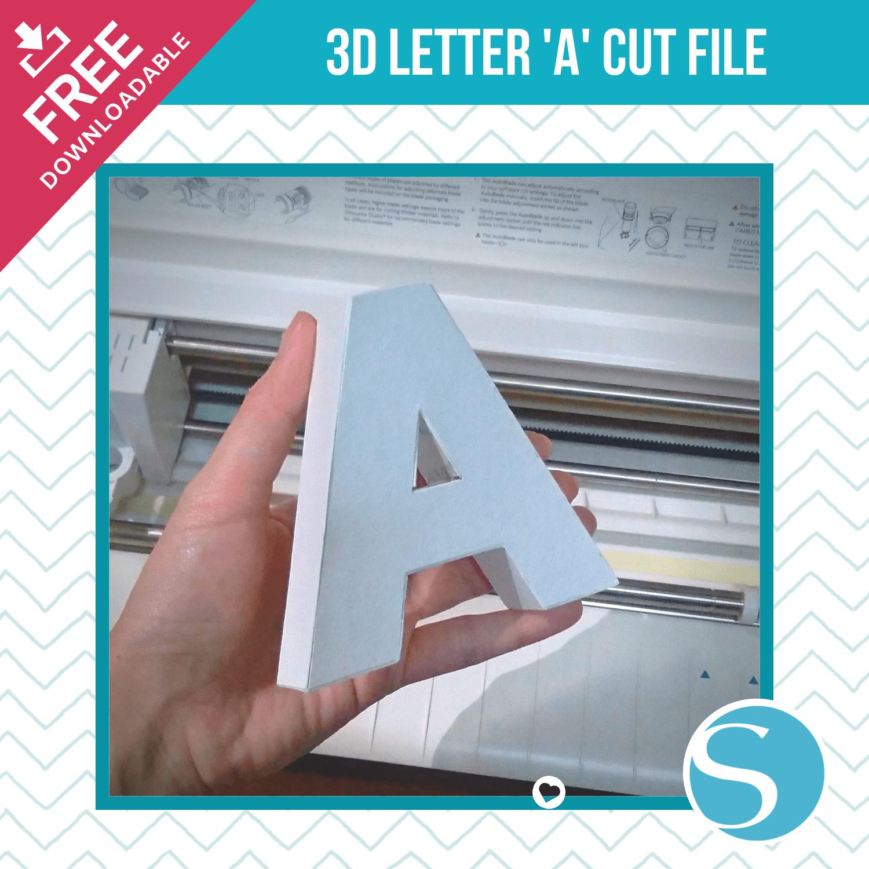 3D Letter A Silhouette Cut File