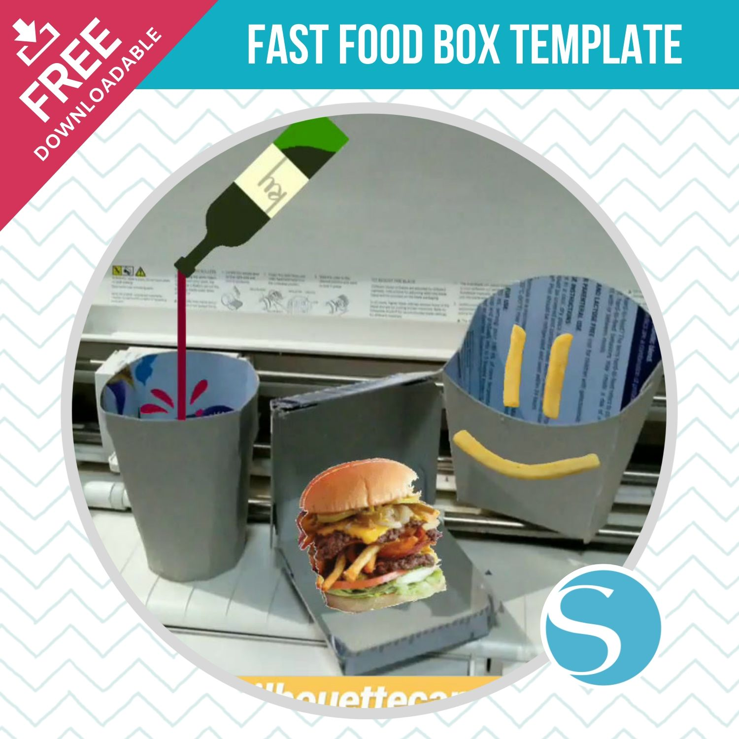 DIY Fast Food Box Template