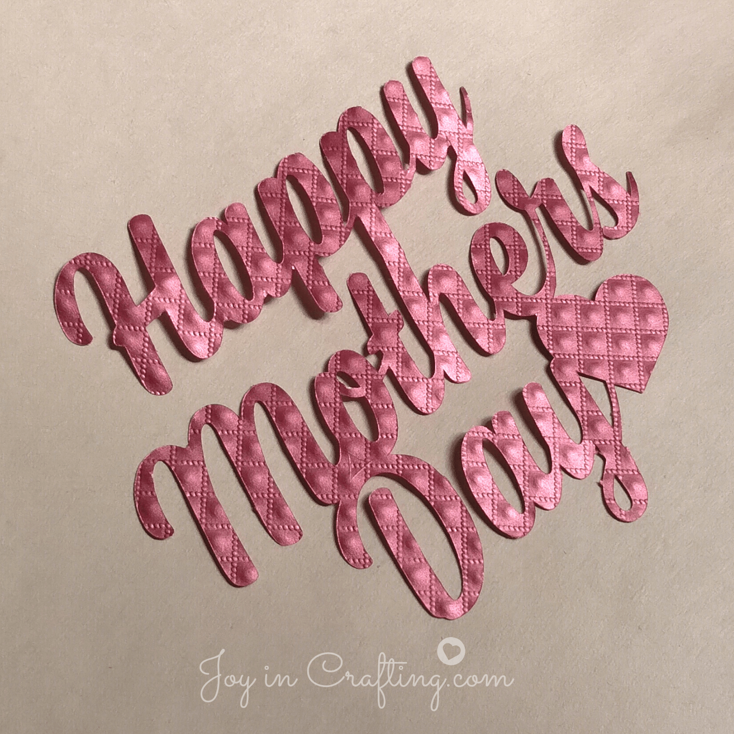 Happy Mother's Day – FREE Silhouette Cut File