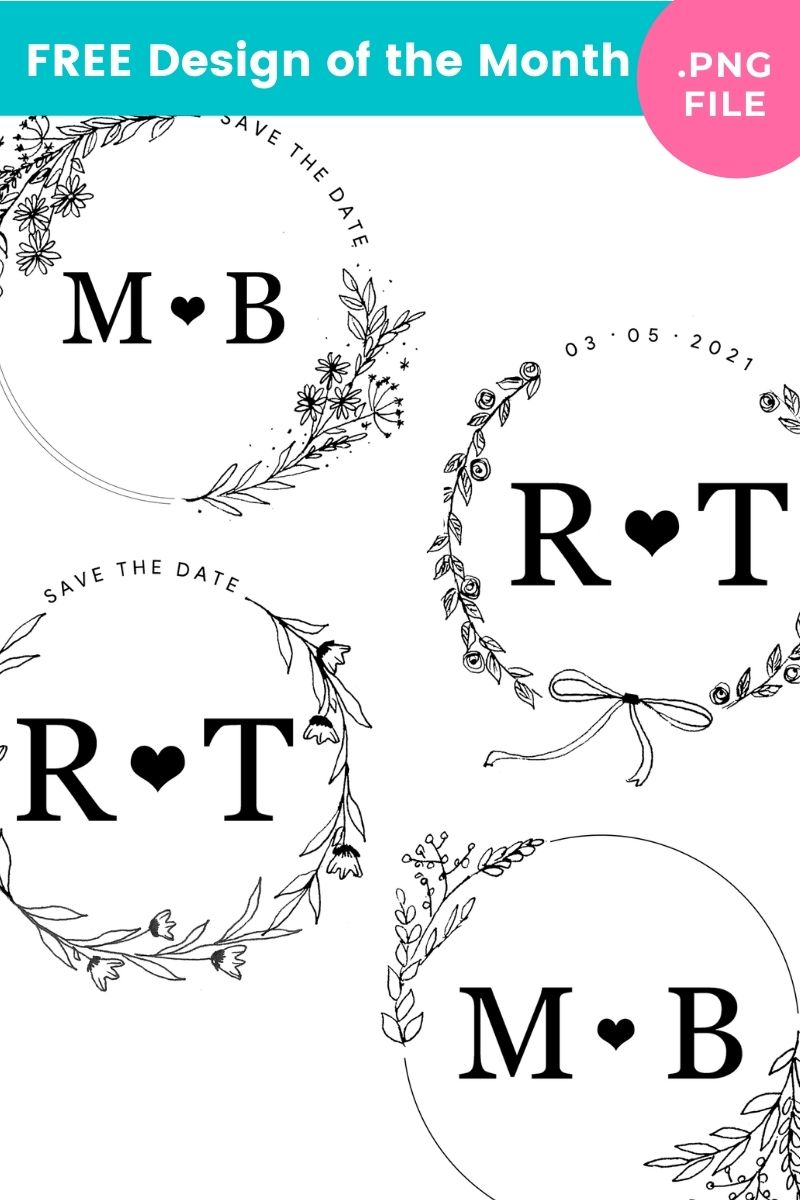 6 Flower Wreath Drawing You Can Use for FREE