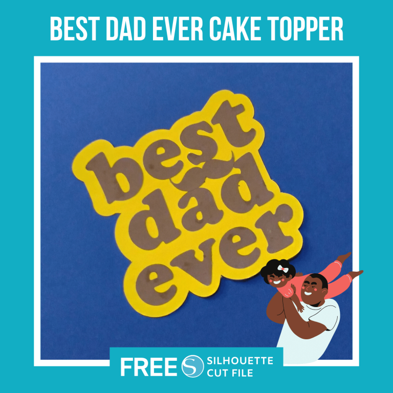 Best Dad Ever Cake Topper