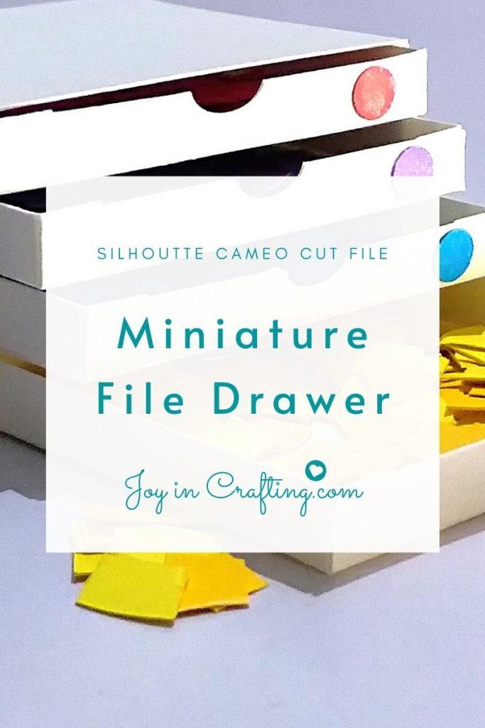 Miniature Filing Cabinet