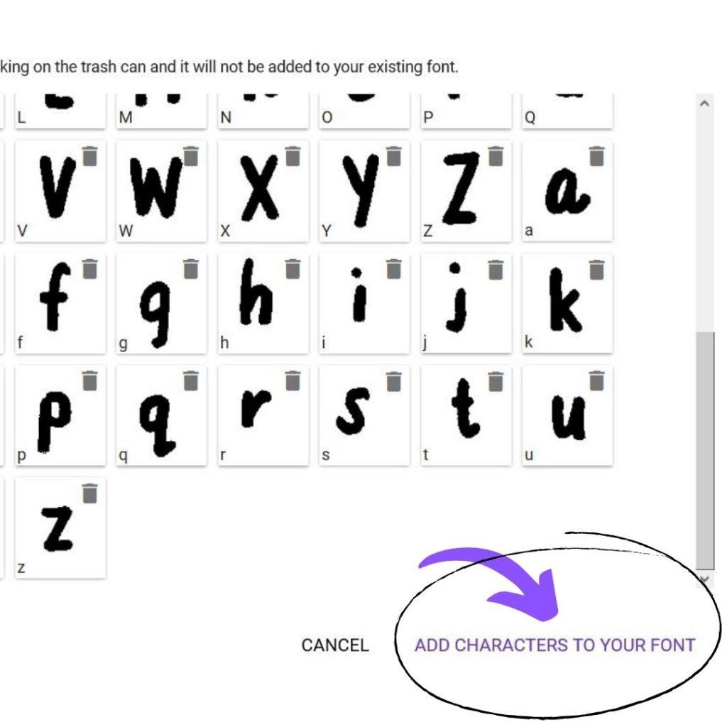 Handwriting into Font