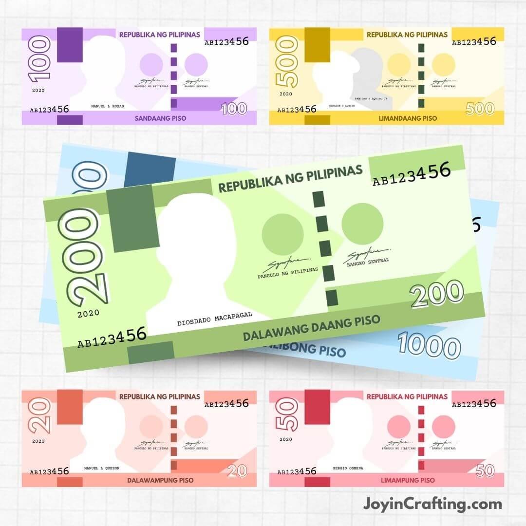 Printable Philippine Peso Play Money 2020