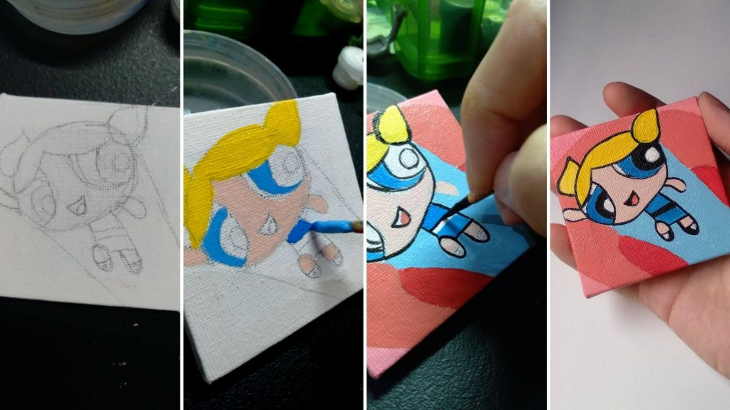 Mini Canvas Painting for Beginners
