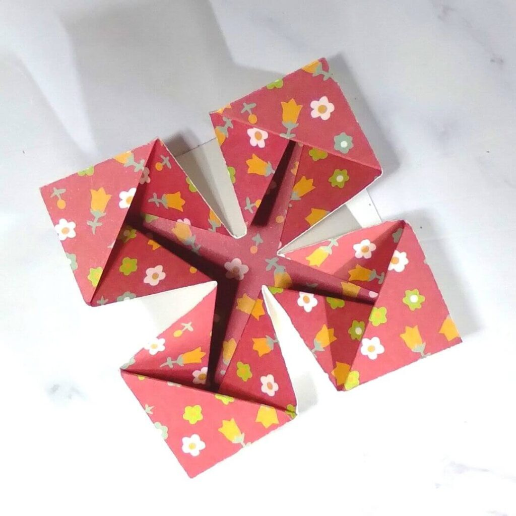 How To Make Napkin Fold Card Using A Template Joy In Crafting