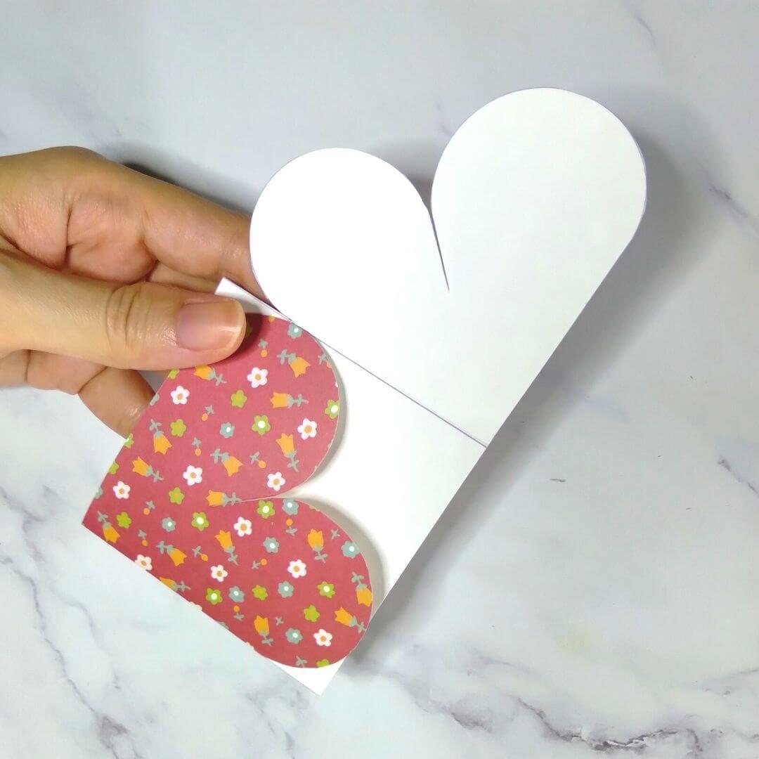 Yin Yang Valentine's Heart Card Template