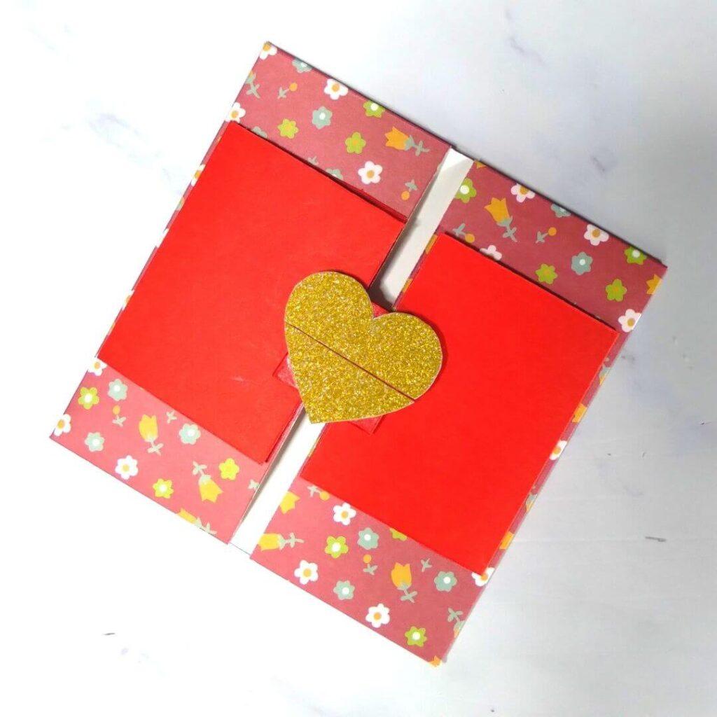 Heart Lock Slider Card Design Template