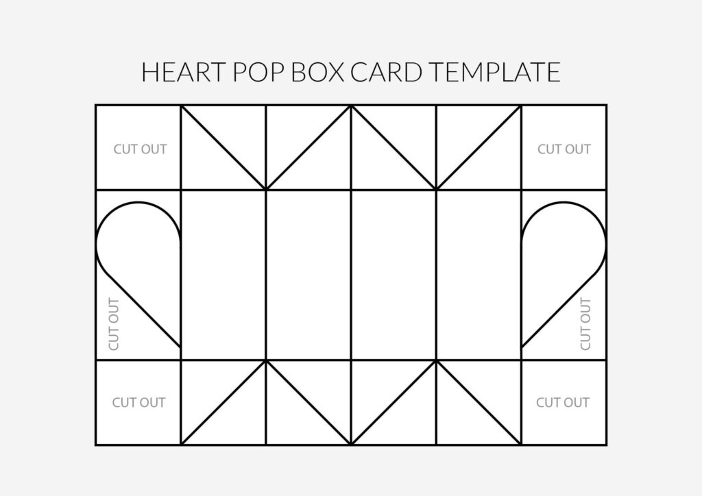 Valentine's Heart Pop Box Template