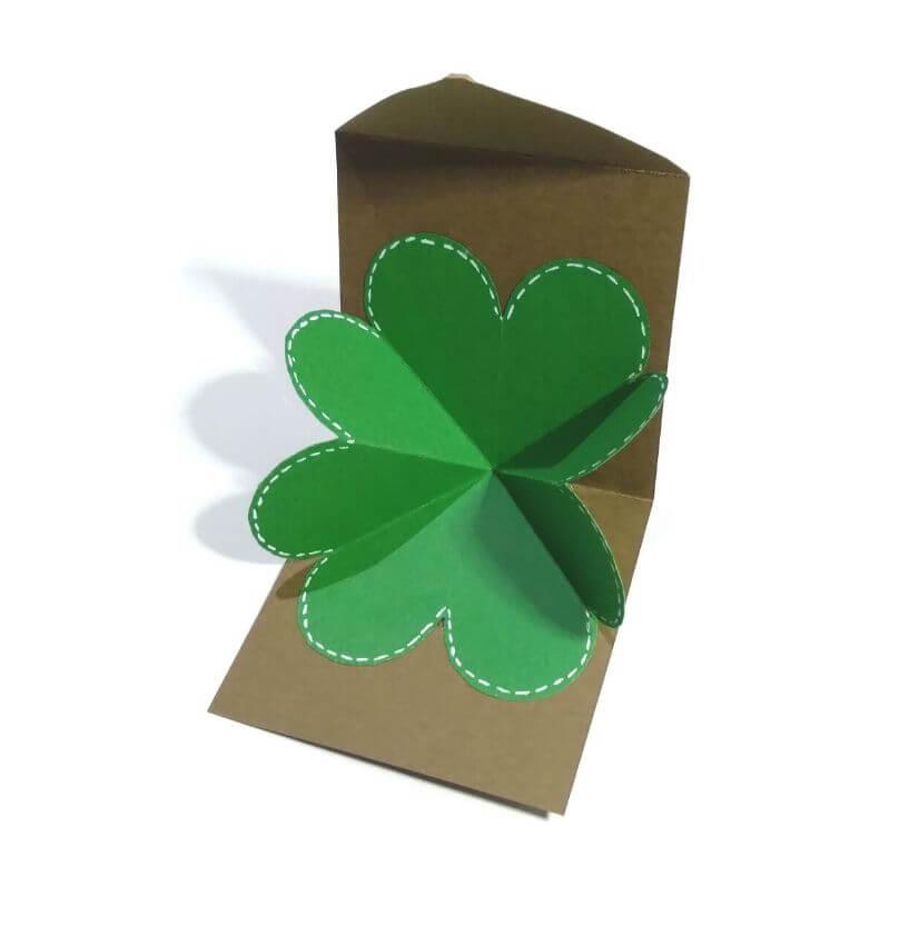 Clover Leaf Card Template Printable