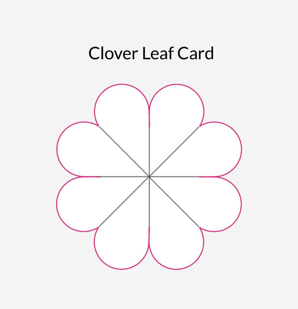 Clover Leaf Card Template