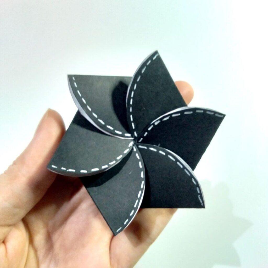 Flower Twist Card Template