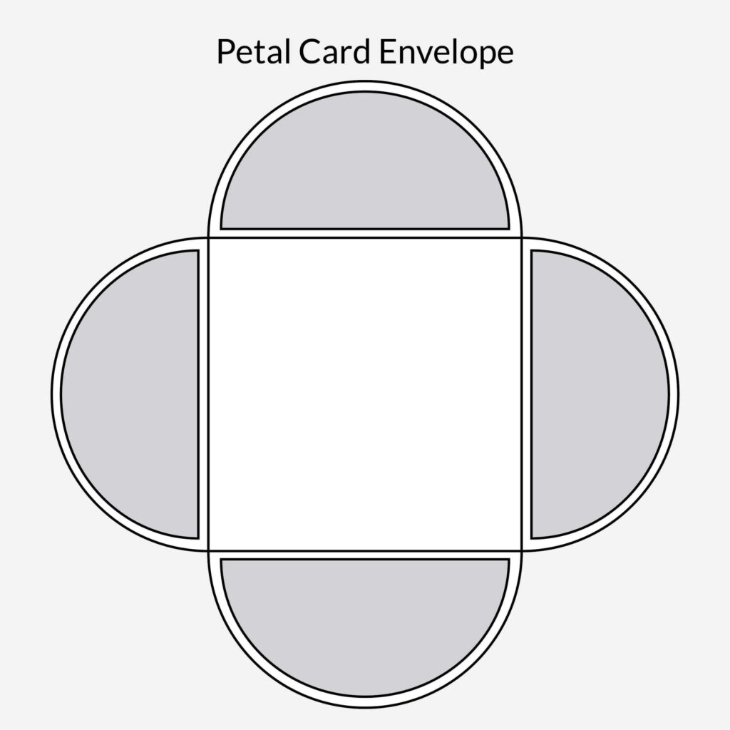 Petal Envelope Card
