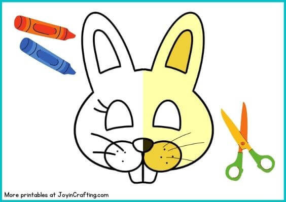 Easter Bunny Mask Printable Coloring Page