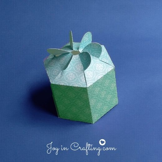 Hexagon Shaped Box with Petals – for Silhouette Cameo