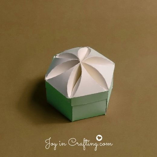 Inverted Hexagon Box with Lid
