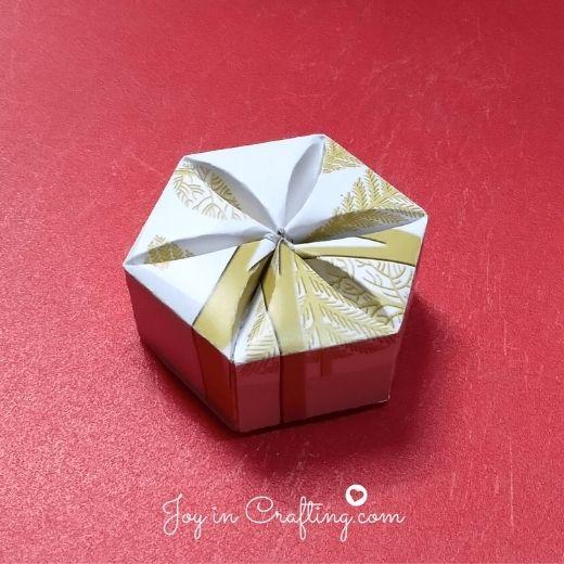 Inverted Hexagon Box Template