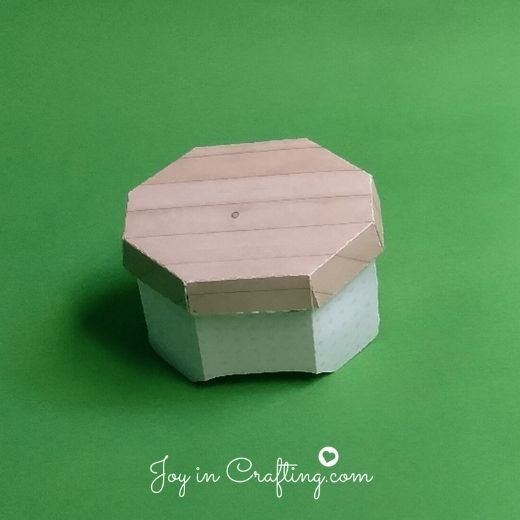 Hexagon Shaped Box With Lid Template