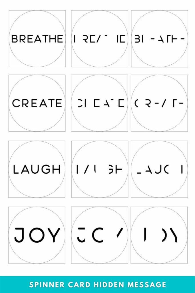 Spinner Card Hidden Message Template