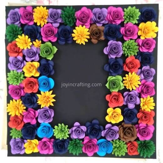 Rolled Paper Flower Free Silhouette Template